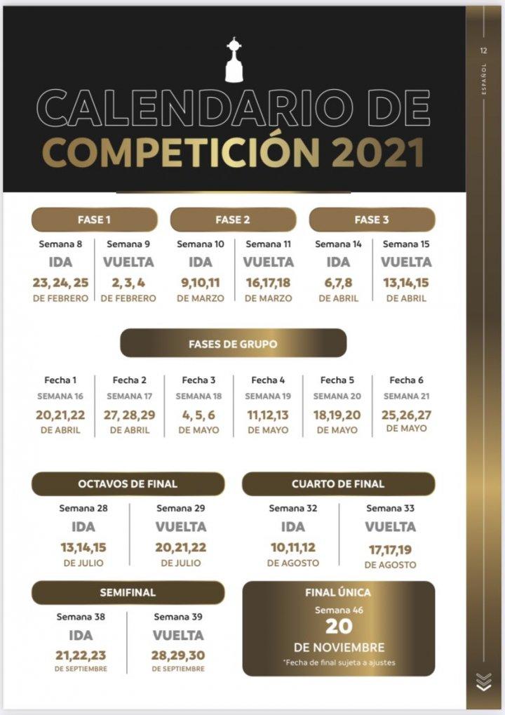 Copa libertadores 2021 fixture